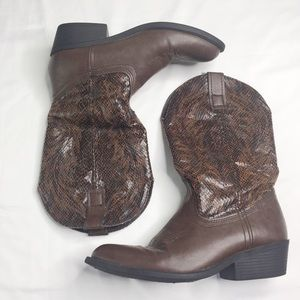 Women's Rampage Walden Brown Cowboy Boots 7.5M